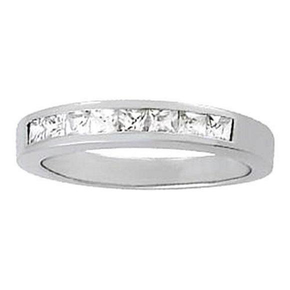 Jewelry - 0.54 Carat Diamond Engagement Band Princess White